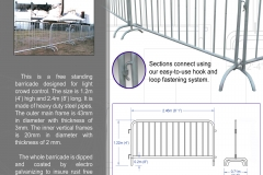 Railing barricades